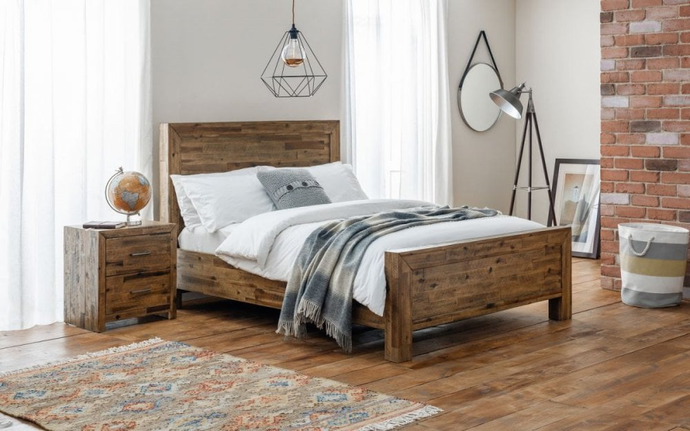 Rafferty S Furniture The Charlie Reclaimed Bed Frame Beds Bedroom From Raffertys Furniture Store Uk